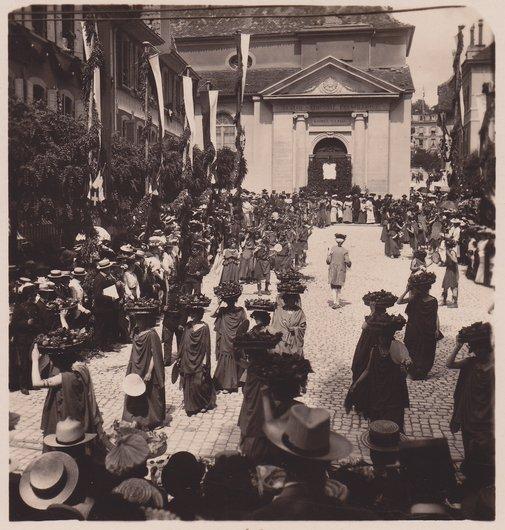Fête des Vignerons 1905. Canéphores