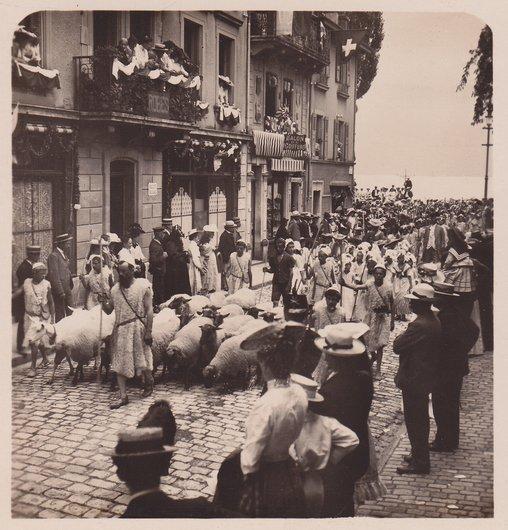 Fêtes des Vignerons 1905. Moutonniers