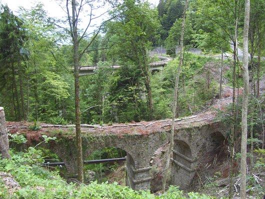 """MOB, ancien et """"nouveau"""" pont ferroviaire du Bois des Chenaux/Champavant"""