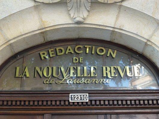 """Rédaction de l'ancienne """"Nouvelle Revue de Lausanne"""" (1)"""