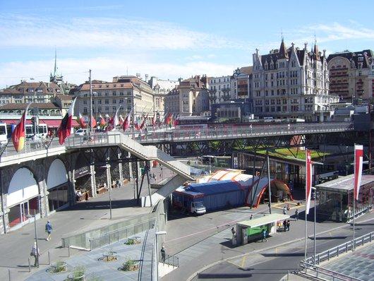 Lausanne, Grand-Pont et place de l'Europe