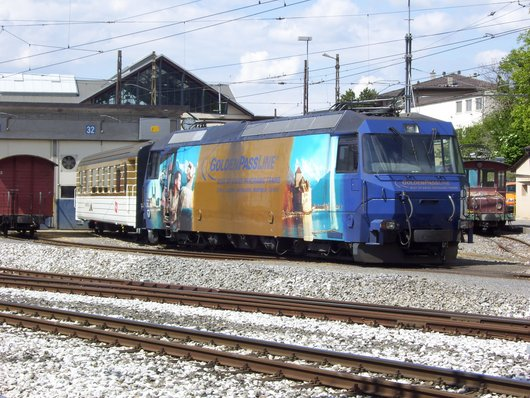 MOB, une locomotive électrique aux ateliers de Chernex