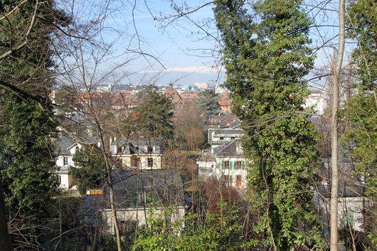 Genève Plainpalais, villas de la Roseraie depuis Beau-Séjour