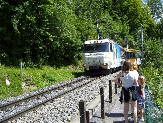 Chernex, le Panoramic Express du MOB/Goldenpass