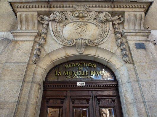 """Rédaction de l'ancienne """"Nouvelle Revue de Lausanne"""" (2)"""
