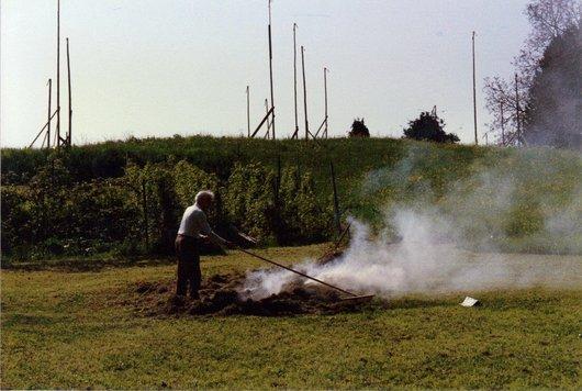 Chernex, Pépé à la grange 5.1989 2
