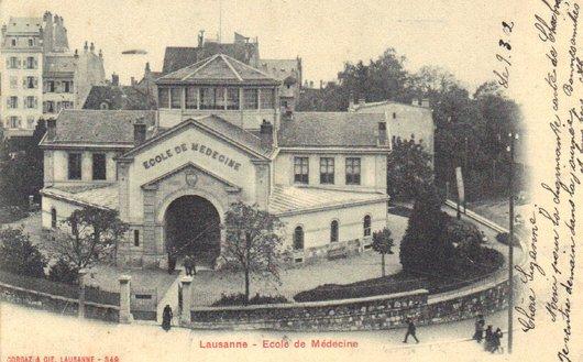 Lausanne, Ecole de médecine et ancienne douane.