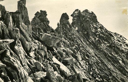 L'Arête nord du Rothorn de Zinal, Alt. 4226 m.