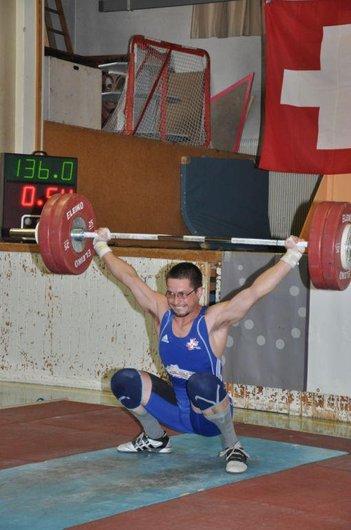 Yannick Sautebin  de Tramelan Record CH à l'arraché 136 kg.