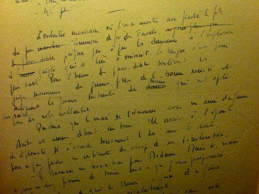 Un manuscrit de Suzanne Delacoste