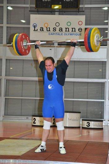 Georges Mizov record CH épaulé-jeté 155 kg