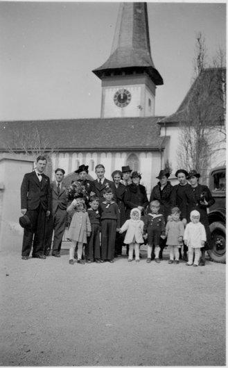 Köniz/BE, mariage de mes grands-parents maternels