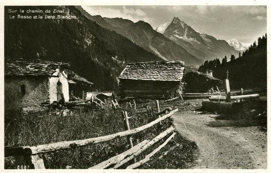 """Village de Mottec en """" 1946 """""""