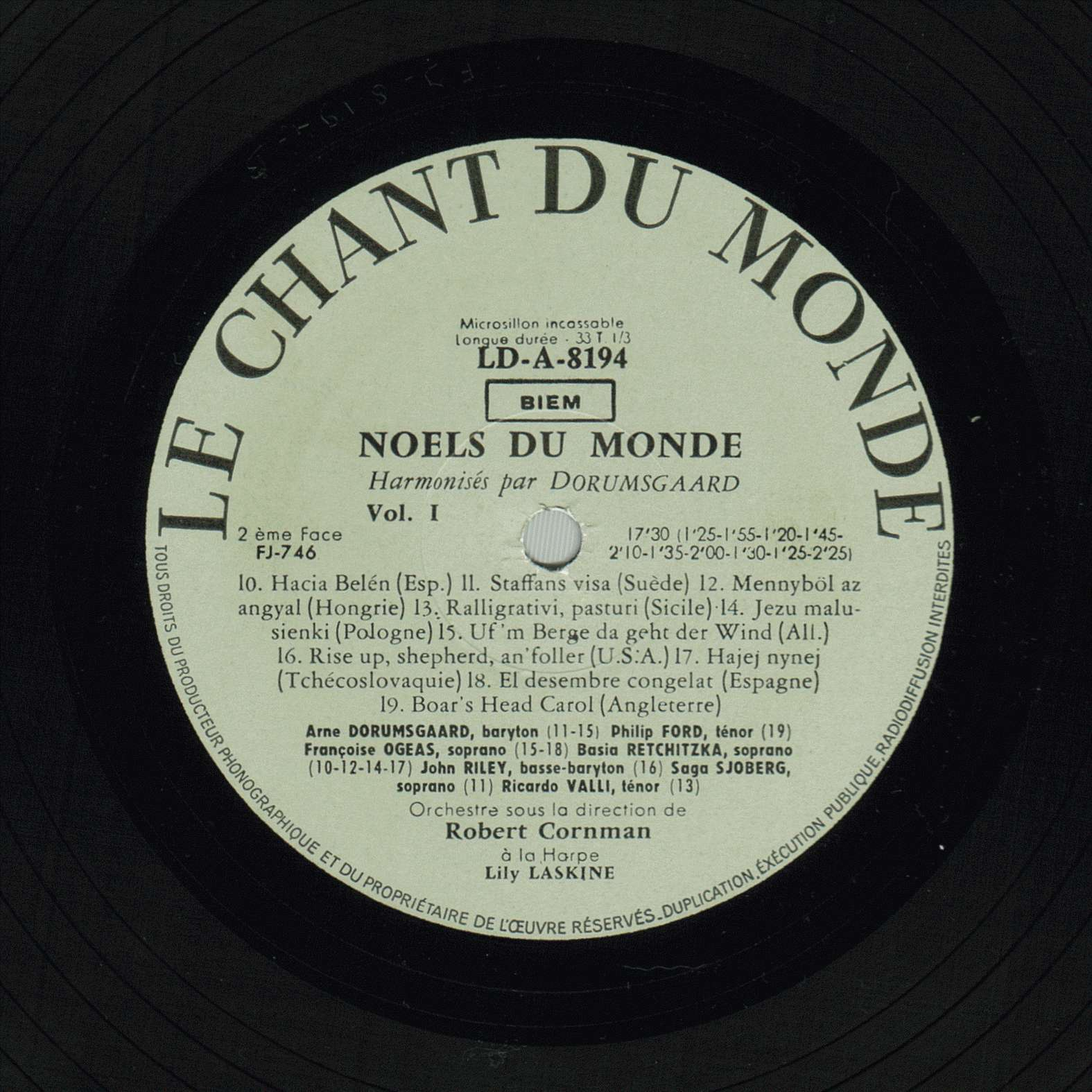 Noëls du Monde, Chants No. 10, 12, 14 et 17, Basia Retchitzka