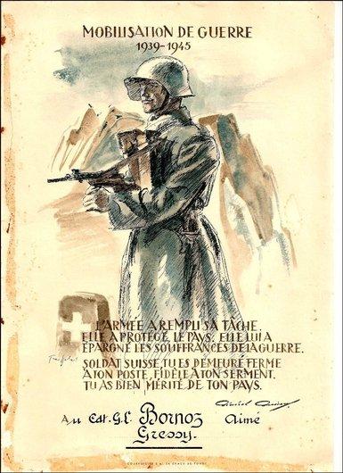 Affiche remise aux soldats démobilisés en 1945