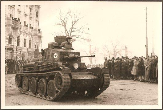 Défilé militaire Genève 1943 - Un tank