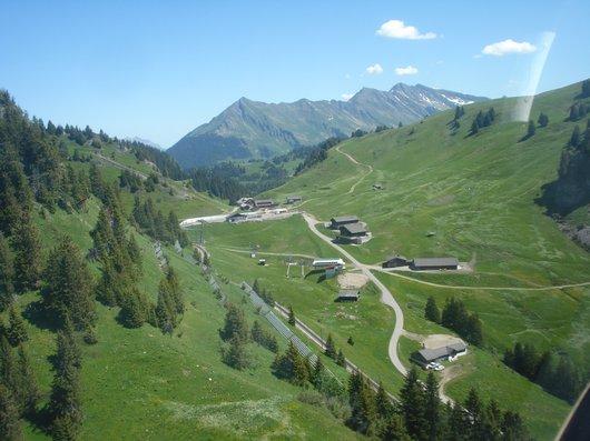 Col de Bretaye. vue aérienne
