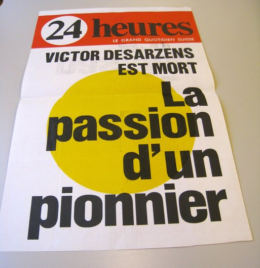 Victor Desarzens est mort.
