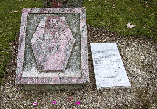 Jardin des disparus, Meyrin, Genève.