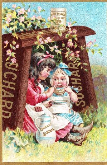 Publicité pour le chocolat Suchard