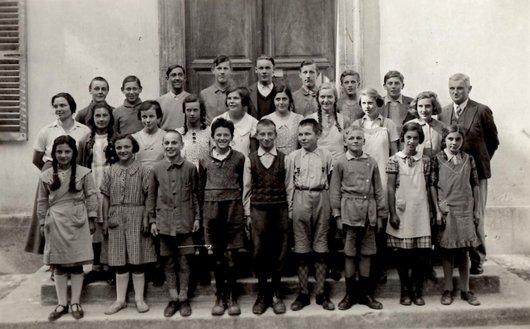 Ecole primaire Ollon 1938 M. Jordan, Mlle Rossi