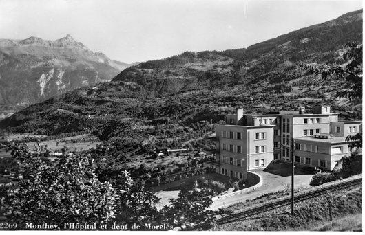 Monthey - l'Hôpital et dent de Morcles