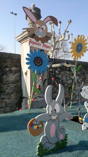 Joyeuses Pâques- Fontaine - Détail- Nyon