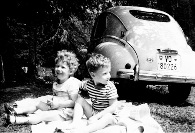 Camping à Lally sur Blonay en Août 1964