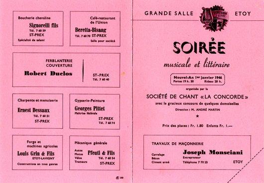 """""""La Concorde"""" Société de chant"""
