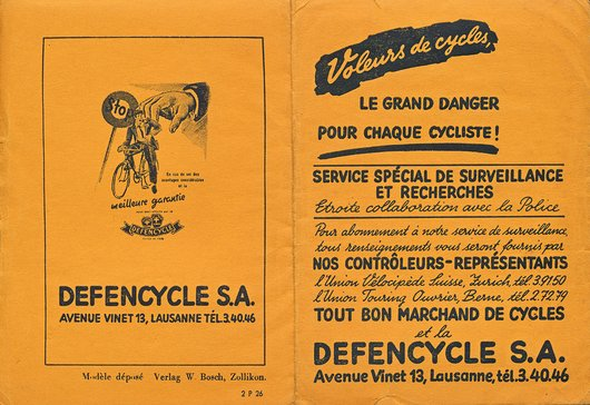 Pochette Defencycle S.A.