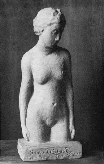 Naiade, terre cuite 1976 de Jean Osouf sculpteur