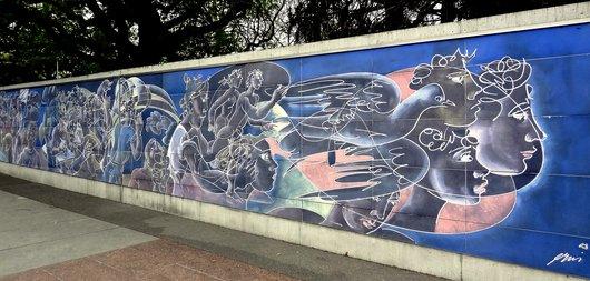 Fresque de la paix - Oeuvre de Hans Erni
