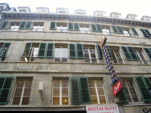 Façade de l'immeuble de la Rue de Bourg 29
