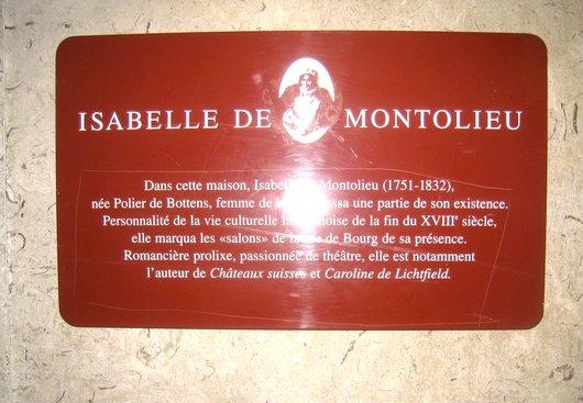 Isabelle de Montolieu, écrivaine née à Lausanne