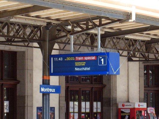 Affichage du train spécial du VVT