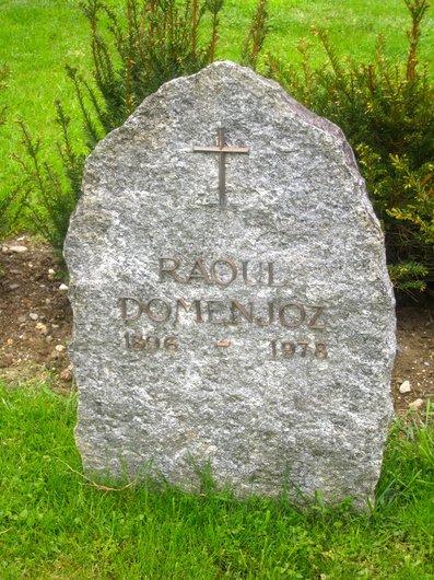 Pierre tombale de Raoul Domenjoz, peintre lausannois