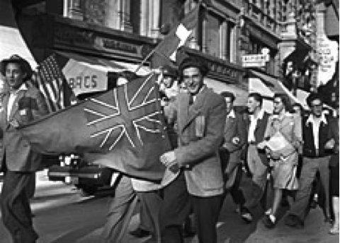 1945 L'armistice - La joie lausannoise