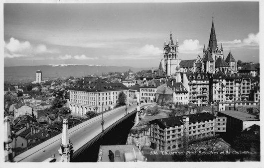 La circulation à Lausanne - Corps de Police -1930