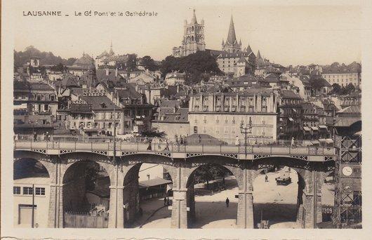Lausanne - Gd-Pont et la Cathédrale