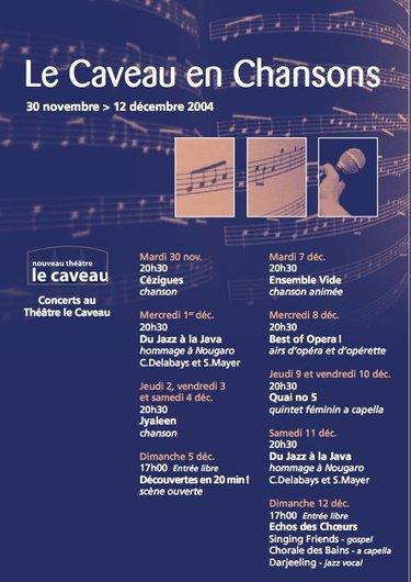 Le Caveau en chansons - 2004 - Affiche