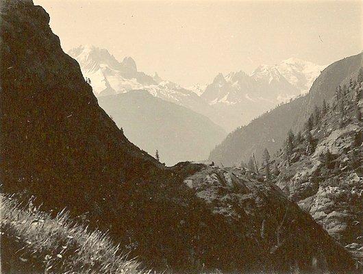 Aiguille Verte et Mont-Blanc
