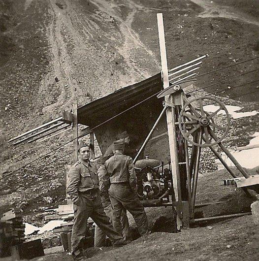 Installation d'un téléphérique - construction cabane Rambert II