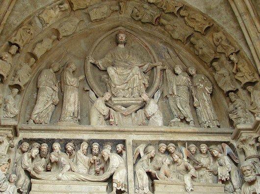 Restauration du portail peint de la Cathédrale de Lausanne