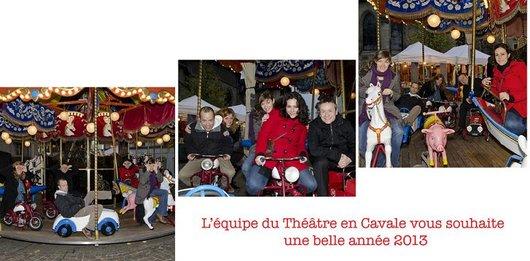 Carte de voeux 2013 - Equipe du Théâtre en Cavale