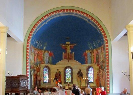 Lausanne  intérieur de l'église Saint Jean de Cour