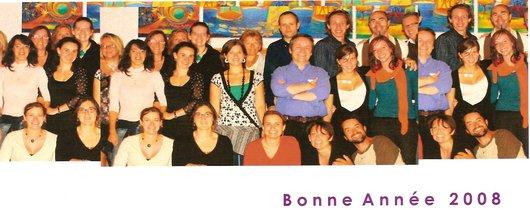 Carte de voeux 2008 - L'Equipe du Théâtre en Cavale