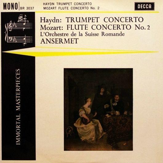 W.A. Mozart, KV 314, André Pépin, OSR, Ernest Ansermet, 1957, disque BR 3037, recto pochette