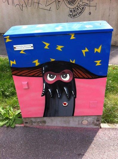 Artiste anonyme, COFOP, expose quartier  Sous-Gare à Lausanne
