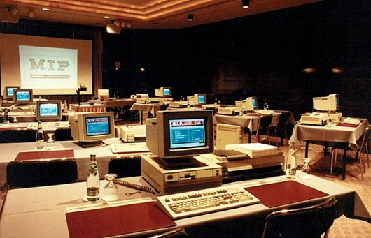 Octobre 1989 Exposition Informatique MIP.