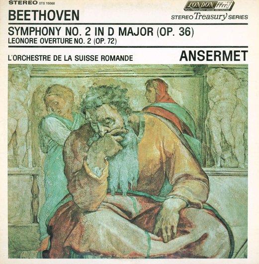 L. van Beethoven, Ouv. Leonore II, Op.72a, Symph. No 2, OSR, Ernest Ansermet, STS 15068 Recto